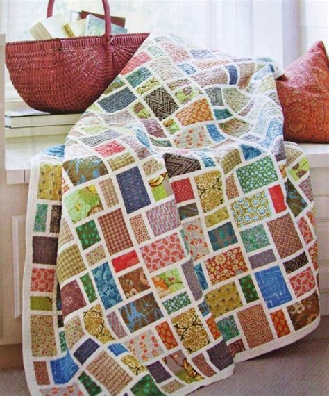 Scrap Patchwork - fabric fusion quilt pattern from magazine ultimate scrap