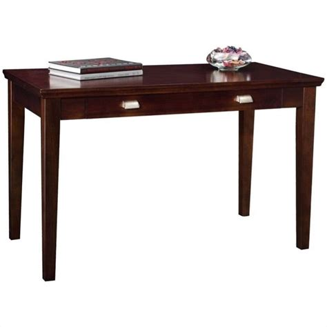leick furniture laptop writing desk in a chocolate cherry