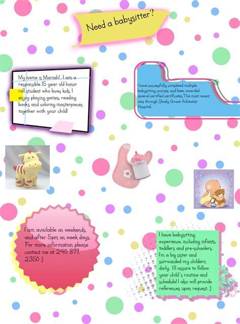 babysitting flyer template sanjonmotel