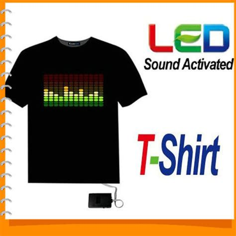 Quality Equalizer T Shirt 1piece sound activated led tshirt light up equalizer el led t shirt clothing for