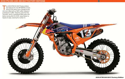 Ktm New Bikes Ktm 2016 Factory Bikes To Use The New Wp Aer48 Pneumatic