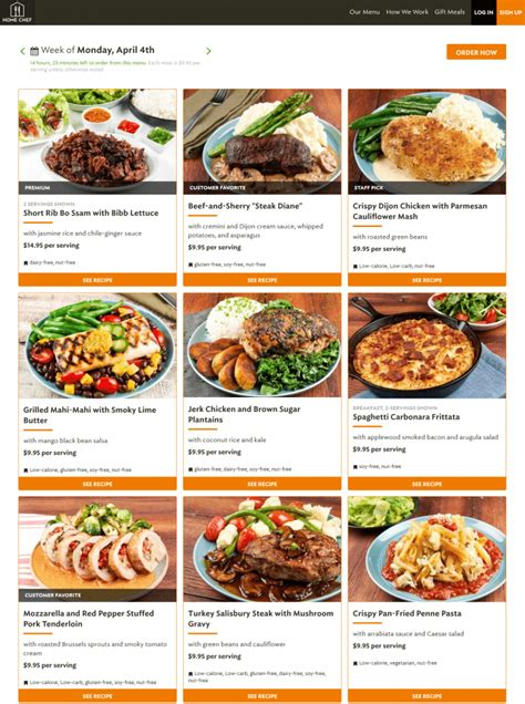 prepossessing 70 home delivery meal plans design