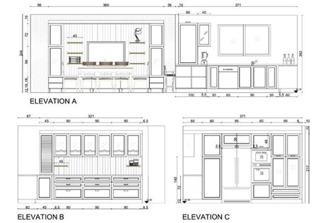 Kitchen Plan Section Elevation by Elevation Europlak Modular Kitchen Projects