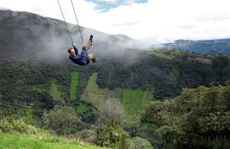 swing on top of the world swing at the end of the world soars over tungurahua volcano