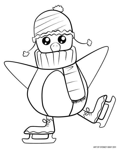 free color by number penguin coloring pages