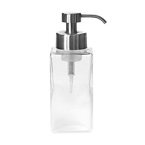bed bath and beyond soap dispenser buy foaming soap dispenser in frost glass from bed bath