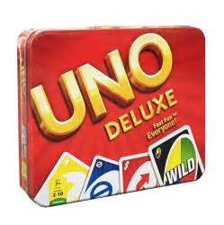 uno deluxe card the gamesmen