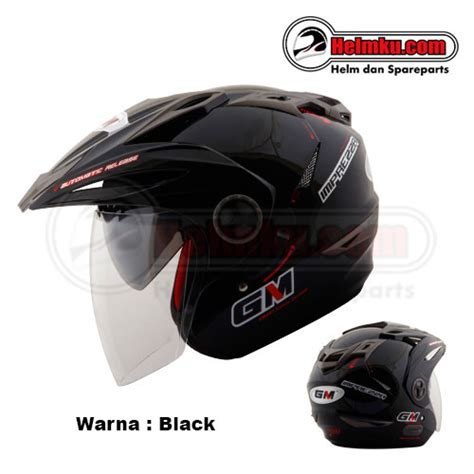 Helm Gm New Impreza 2 Visor Solid gm new imprezza solid