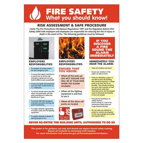 printable hse poster fire safety poster staples 174