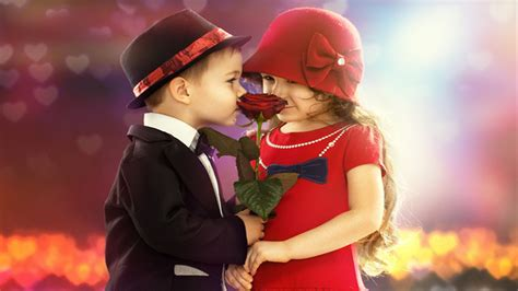 wallpaper of cute couple cute kids couple rose in hand lovely wallpaper