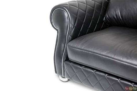 quilted leather sofa michael amini lugano modern quilted leather