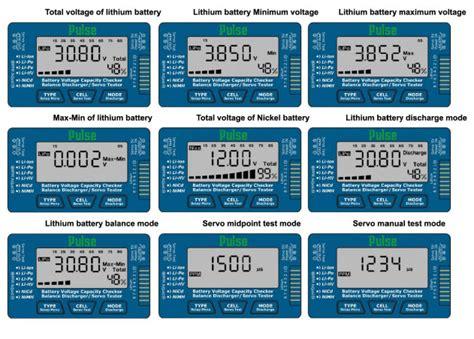 Batt Checker 2 7cell pulse cellmeter 8 lipo battery checker servo tester battery accessories batteries