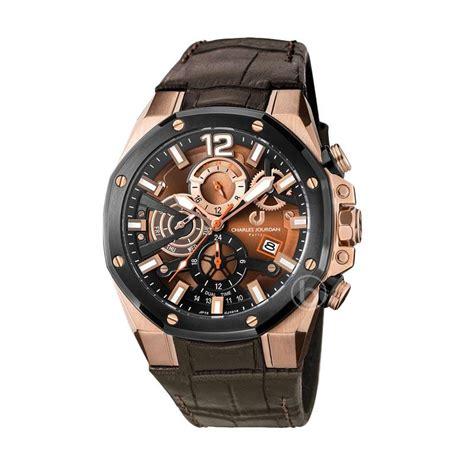 Jam Tangan Pria Charles Jourdan Cj 1025 Leather Kulit Original Murah jual charles jourdan chronograph cj1014 1545c jam tangan pria gold harga