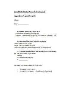Template For A by 40 Sponsorship Letter Sponsorship Templates
