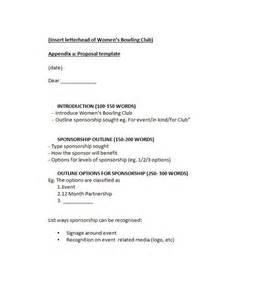 template for a 40 sponsorship letter sponsorship templates