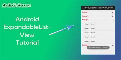 android expandablelistview android expandablelistview androhubandrohub