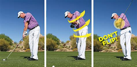 swing through golf ball how to play target golf golf tips magazine