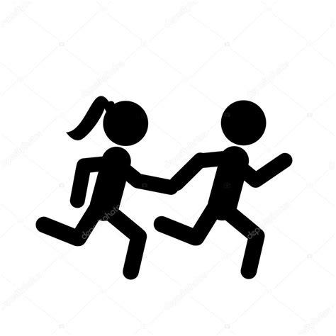 imagenes vectoriales personas siluetas de personas corriendo archivo im 225 genes