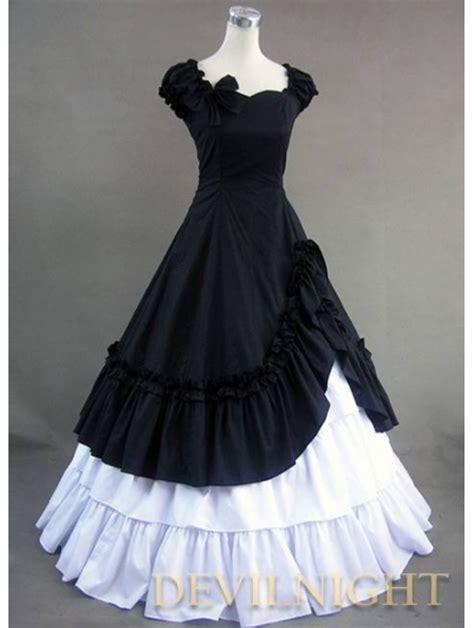 classic black  white ruffled sweet gothic victorian