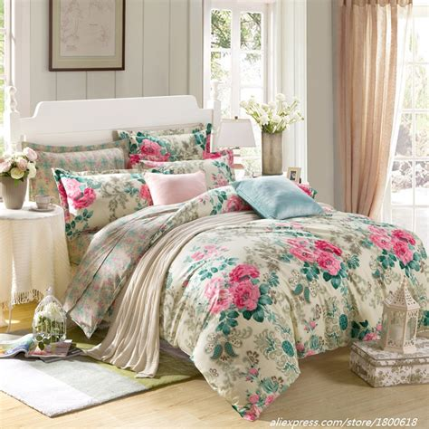cheap bed sets queen queen bedding sets summer rose love bed linens 4pcs duvet