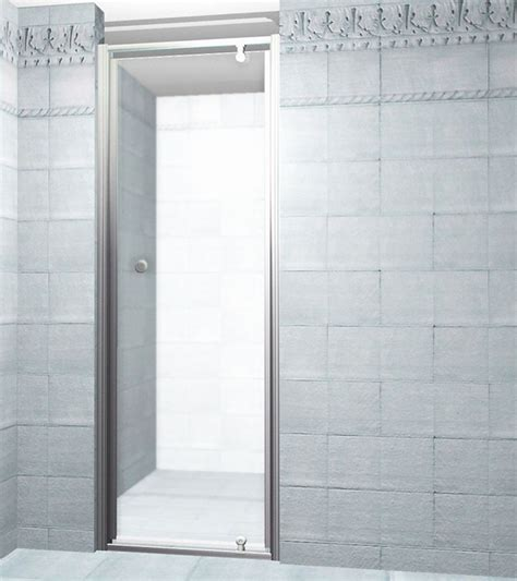 28 Shower Door Jade Bath 28 Inch Pivot Shower Door White Finish With Obscure Glass The Home Depot Canada