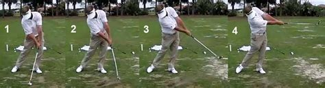no hands golf swing hand release actions through the impact zone