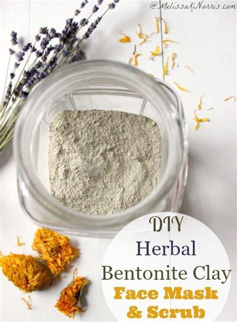 1set Mud Mask Scrub diy herbal bentonite clay mask and scrub k norris