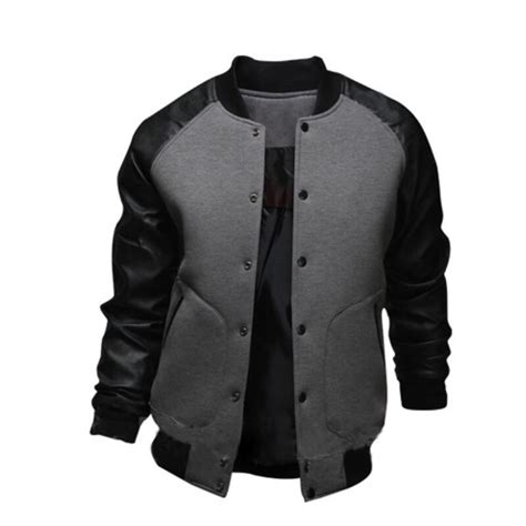 Jaket Keren Jaket Trendy Jaket Stylish Jaket Boomber Zipper fashion jacket autumn 2016 cotton bomber jackets sleeve stylish button raglan