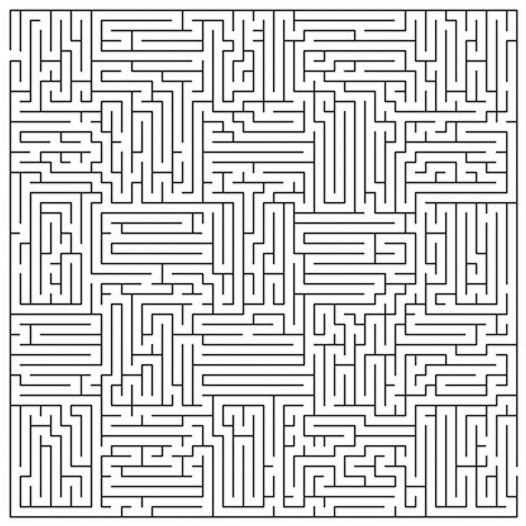 printable mazes challenging complicated coloring pages for adults very difficult