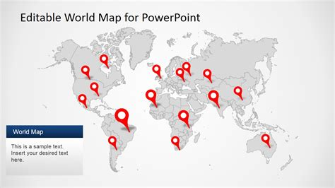 editable world map powerpoint world maps vector editable updated