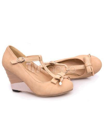 Heels Gp 06 charming bow t s wedge shoes milanoo