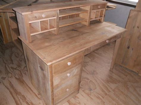 reclaimed barn wood furniture office computer desk storage