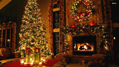 christmas decor at home christmas fireplace backgrounds wallpaper cave