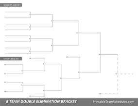 8 best tournament brackets free printable brackets