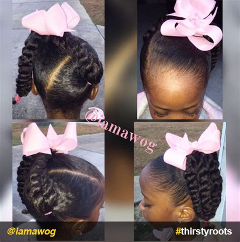 easy ponytails fora 46 year old 20 cute natural hairstyles for little girls