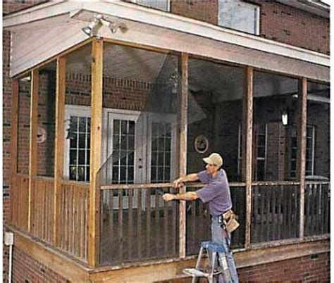 Screen Porch Plans Do It Yourself by Screening In A Porch Ideas Joy Studio Design Gallery