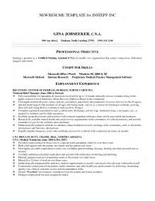 Cna Skills Resume Sle by Certified Nursing Assistant Hospital Resume Sales