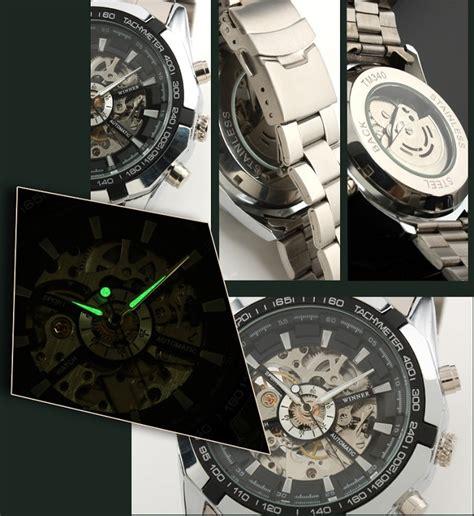 ess jam tangan mechanical wm257 silver black jakartanotebook
