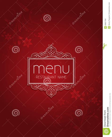 design background menu restaurant menu background design