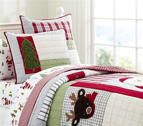 pottery barn christmas bedding dear santa quilted bedding pottery barn kids