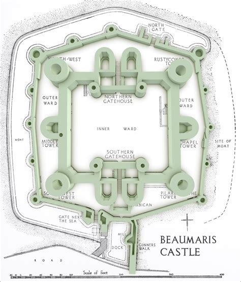 beaumaris castle floor plan beaumaris lost in castles
