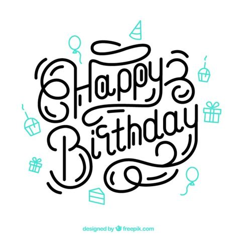 happy birthday lettering design happy birthday lettering vector free download