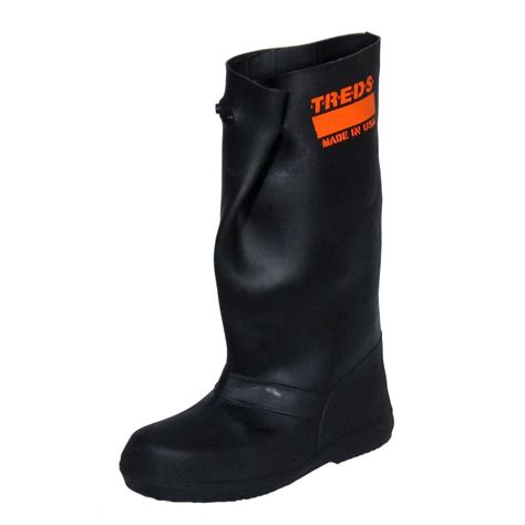 17 in 2x large black rubber the shoe boots size