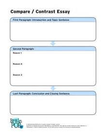 Essay Organizer Template by Compare Contrast Graphic Organizer Brainpop Educators