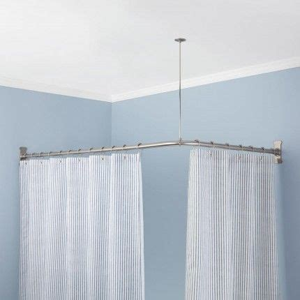ceiling suspended shower curtain rod 25 best ideas about shower curtain rods on pinterest