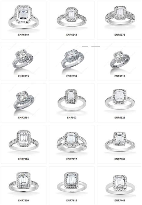 Wedding Rings Types by So Many Different Types Halo Emerald Engagement Rings
