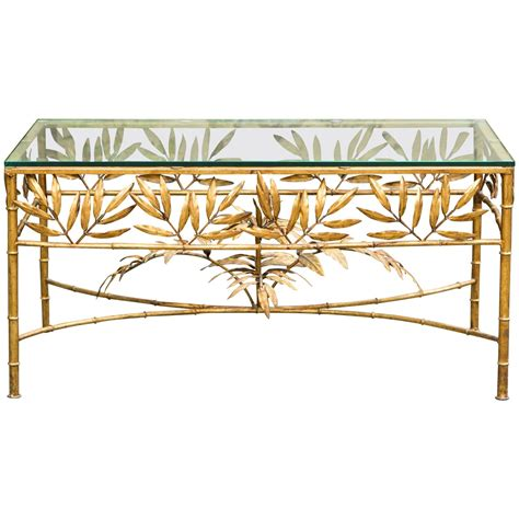 Gold Bamboo Coffee Table Gold Plated Faux Bamboo Coffee Table For Sale At 1stdibs