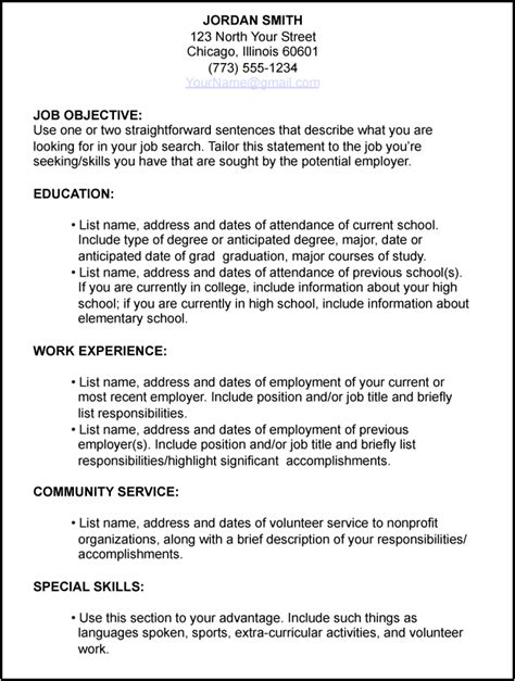 Help Writing A Resume