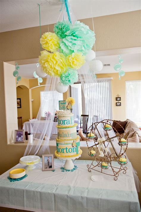 Colors For Baby Shower by Best 25 Teal Baby Showers Ideas On