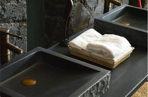 Impressionnant Salon De Jardin En Granit #10: Vasque-borneo-basalte-noir.jpg